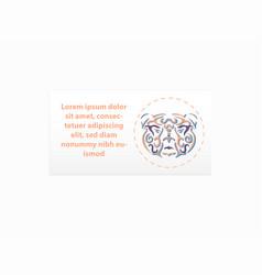 tribal bear business card mockup vector image