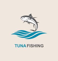 Tuna fish icon vector