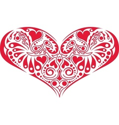 Victorian floral heart vector image