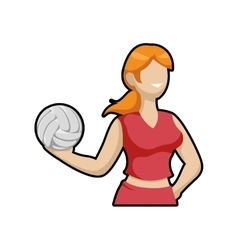 Volleyball and cartoon girl icon sport concept vector