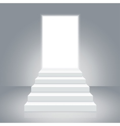 White Staircase to Open Door vector image