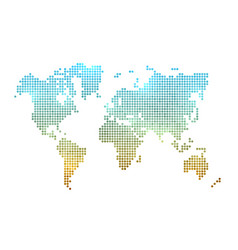 world map made of dots vector image