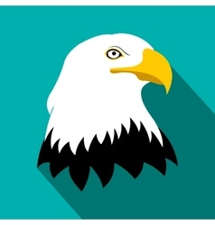 Bald eagle flat icon vector image
