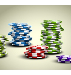 Colorful casino chips vector image