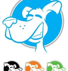 Dog face cartoon icon vector