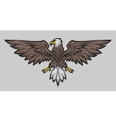 Eagle mascot spread wings Color version vector image vector image