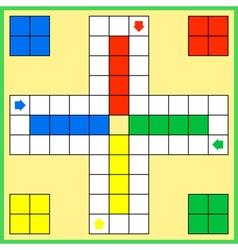 Ludo board game vector image vector image