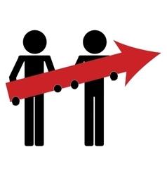 man icon avatar arrow business growth vector image vector image