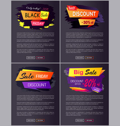 only today black friday sale vector image vector image
