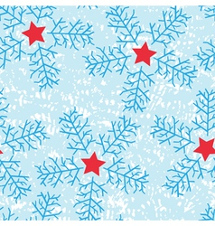 Star Snow Flakes vector image vector image