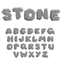 stone alphabet vector image vector image