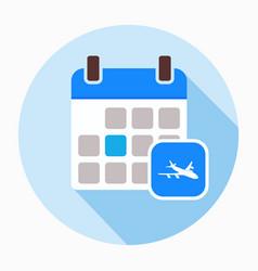 airplane calendar icon vector image