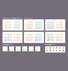 business infographics ui navigation elements vector image