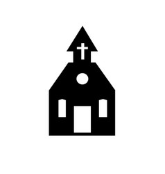 church black silhouette icon on white vector image vector image