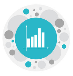 of education symbol on chart vector image