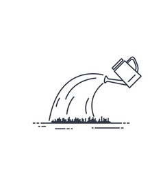 watering can line vector image vector image