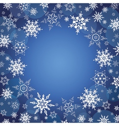 Winter background wallpaper with snowflakes vector image