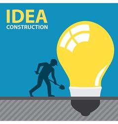 IDEA CONSTRUCTION vector image vector image
