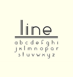 modern double line display font and alphabet vector image vector image