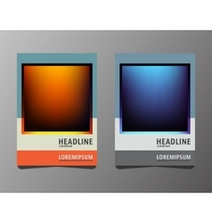 Set brochures template vector image vector image