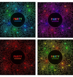 Set of Abstract Circular Colorful Bright Glow Back vector image vector image