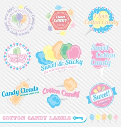 Cotton Candy Labels vector image vector image