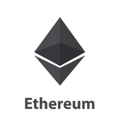 Ethereum black symbol chrystal vector