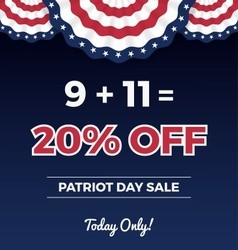 Patriot day sale promotion web banner vector image vector image