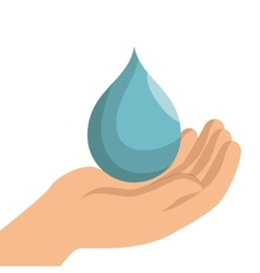 save the water icon vector image