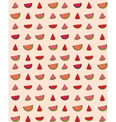 seamless pattern of slices watermelon vector image