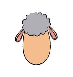 Sheep animal manger christmas character vector