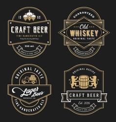 Vintage frame design for labels banner vector