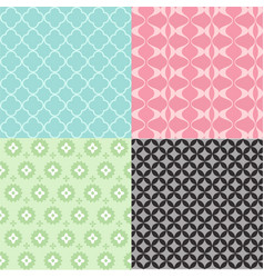 A colorful abstract seamless pattern set vector