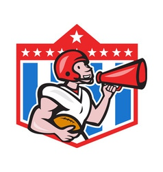 American Football Quarterback Bullhorn Cartoon vector