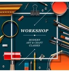 Artist workshop template vector image