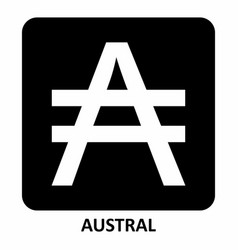 austral currency symbol vector image