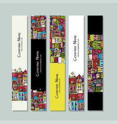 banners design european city street vector image