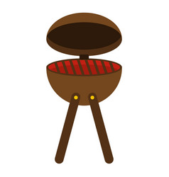 Bbq party grill icon isolated vector