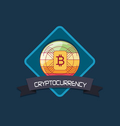 Bitcoin cryptocurrency design vector