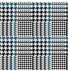 Blue and black hounds tooth pattern vector