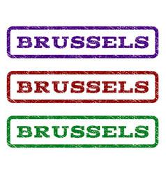 brussels watermark stamp vector image