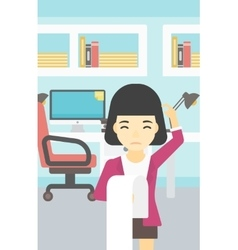 Business woman with long bill vector