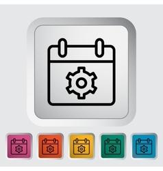 Calendar with gear vector