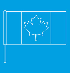 Canada flag icon outline style vector