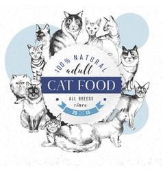 cat food emblem vector image