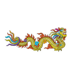 chinese dragon for your design vector image