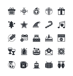 Christmas Icons 1 vector image