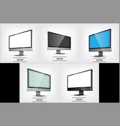 computer display eps10 vector image