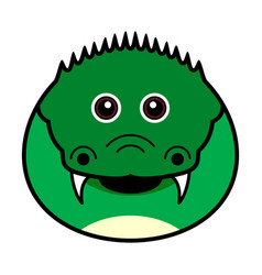 cute crocodile cute animal faces vector image