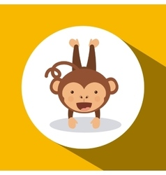 Cute monkey design vector